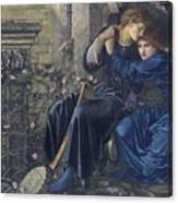 Edward Burne-jones, Love Among The Ruins, 1894 Canvas Print