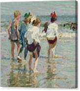 Edward Henry Potthast 1857 - 1927 Summer Day, Brighton Beach Canvas Print