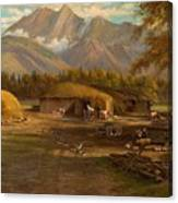 Edward Hill 1843-1923 Adamsons Ranch, Utah Canvas Print