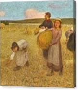 Edward Stott, A.r.a. 1859-1918 Harvesters Canvas Print