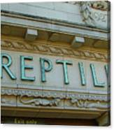 Edwardian Reptile House  Canvas Print