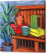 Edwards Nursery Potting Bench Canvas Print