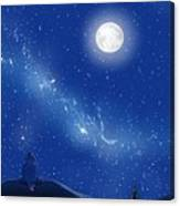 Eeyore A Lonely Night Canvas Print
