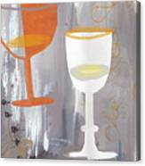 Efervescent Champagne Cups Canvas Print