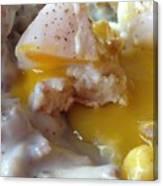 Egg And Gravy Canvas Print