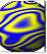 Egg In Space Blue And Yellow Canvas Print