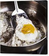 Eggs Cooked With Bacon Grease In Pan  Canvas Print