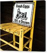 Eggs For Sale Canvas Print