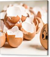 Eggs Have Feelings Too Canvas Print
