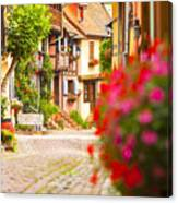 Half-timbered House, Eguisheim, Alsace, France  Canvas Print