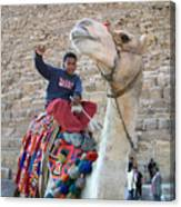 Egypt - Boy With A Camel Canvas Print