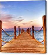 Egypt Red Sea Sunset Canvas Print