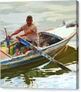 Egyptian Fisherman Canvas Print