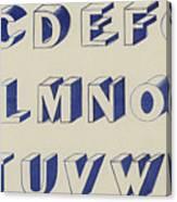Egyptian For Carving Vintage Blue Font Design Canvas Print