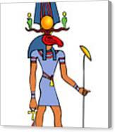 Egyptian God - Khensu Canvas Print
