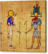 Egyptian Gods And Goddness Canvas Print