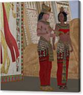 Egyptian King And Queen Canvas Print