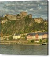 Ehrenbreitstein Fortress On The Rhine Canvas Print