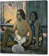 Eiaha Ohipa Or Tahitians In A Room Canvas Print