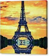 Eifel Tower In Paris Canvas Print