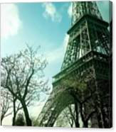 Eifell Tower View From Taxi II. Canvas Print
