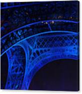 Eiffel Blue Canvas Print