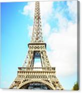 Eiffel Tower Portrait Canvas Print