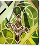 Eiffel Tower And Jardin Du Champ De Mars Canvas Print