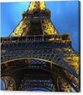 Eiffel Tower At Night. Paris Canvas Print