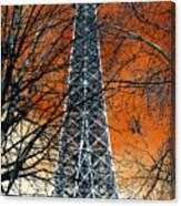 Eiffel Tower Behind The Trees Pop Art Canvas Print