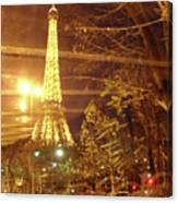 Eiffel Tower By Bus Tour Canvas Print