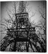 Eiffel Tower During The Winter. Canvas Print