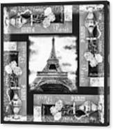 Eiffel Tower In Black And White Design I Canvas Print