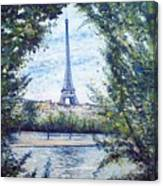 Eiffel Tower Paris France 2001   Canvas Print