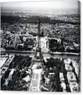 Eiffel Tower Paris In Wwii Canvas Print