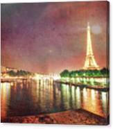Eiffel Tower Reflections Canvas Print