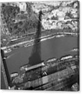 Eiffel Tower Shadow Canvas Print