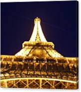 Eiffel Tower Straight Up  Canvas Print