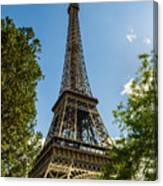 Eiffel Tower Through Trees Canvas Print