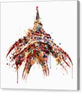 Eiffel Tower Watercolor Canvas Print