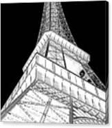 Eiffel Up Inverted Canvas Print
