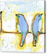 Eight Little Bluebirds Canvas Print