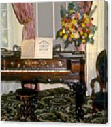 Eighteenth Century Piano And Parlor Canvas Print