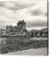 Eilean Donan Castle Bw 1337 Canvas Print
