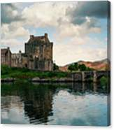 Eilean Donan Castle On A Cloudy Day Canvas Print
