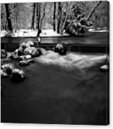 Eisbach In The Winter Canvas Print