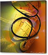 Ekg Stethoscope Composite Canvas Print
