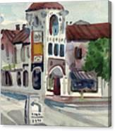 El Camino Real In San Carlos Canvas Print