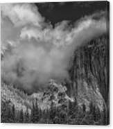 El Capitan And The Stormy Clouds Canvas Print