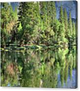 El Capitan Over The Merced River - Yosemite Valley Canvas Print